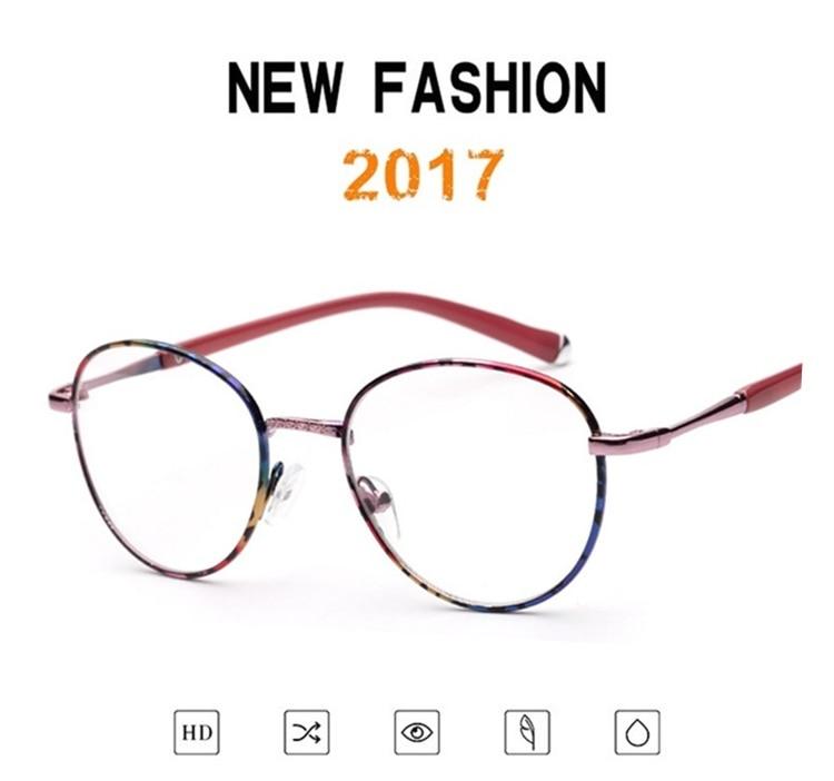 ⑥Liga de alta Qualidade Retro Designer Rodada Sem Dioptria Óculos ... d178aabbde