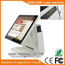 Haina Touch 15 дюймов все в одном сенсорный экран True Flat POS системы с дисплеем клиента