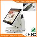 Haina Touch 15 pulgadas todo en una pantalla táctil cierto plano sistema POS con pantalla de cliente