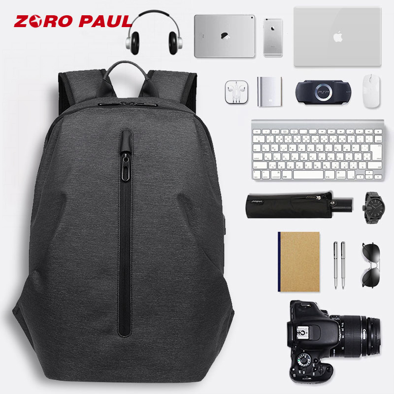 Zoro Paul Usb Charging 15.6 Inch Laptop Backpack Men Travel Back Pack Backpack Schoolbag For Boy Male Anti Theft Bagpack Bookbag