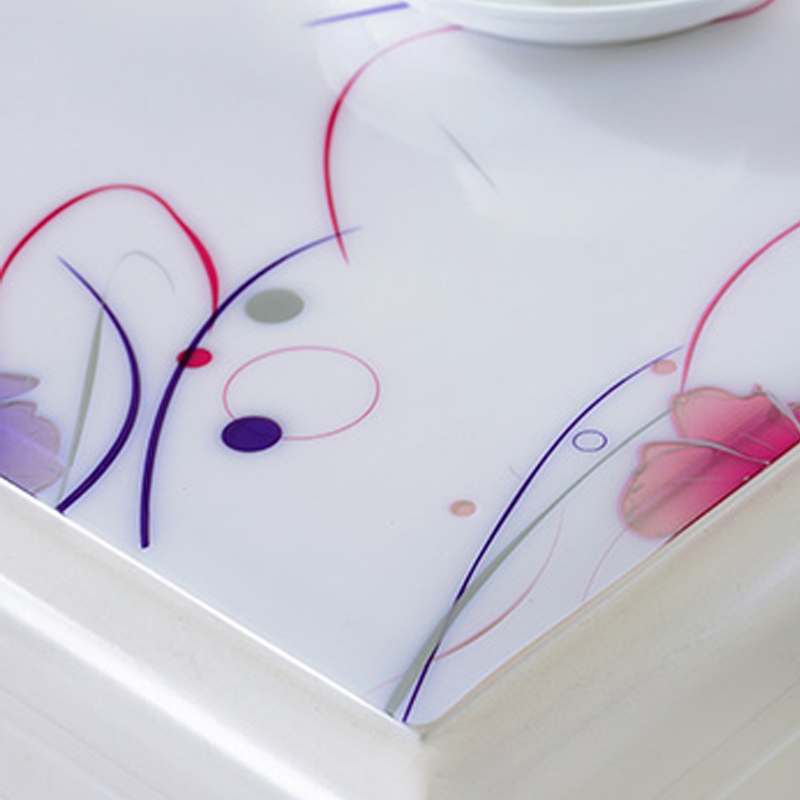 1.5 mm d/'épaisseur en Plastique Transparent motif floral en relief transparent Rose Leaf Table Protector
