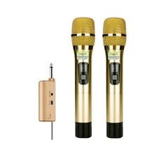Micrófono inalámbrico de metal/semimetal PARA karaoke al aire libre, amplificador de mano de audio para ordenador de casa, ktv