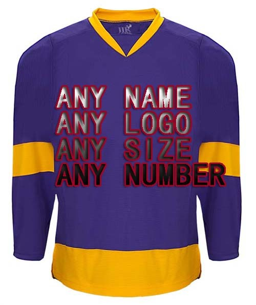 f358d66e50 Custom Any Design Logo Factory Wholesale ICE Hockey Jerseys Replica Home  Away Mens Vintage Jersey Purple