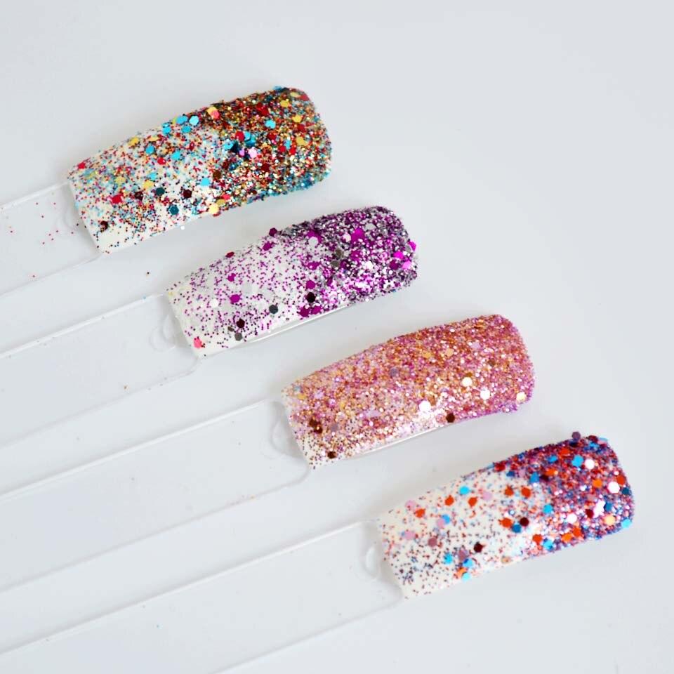 Mix Pailletten für Nail art Feinem Glitter Pulver für Nails Bunte ...