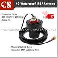 Omnidireccional de 4G 3G LTE MIMO Antena Externa para Huawe B593 B315 B880 SMA macho (interior pin), 1 m de cable