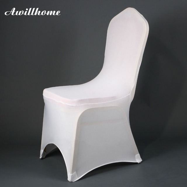 Silver Chair Covers Uk Contemporary Wingback Shipping Free 200 Pcs Spandex White Good Quality For Wedding Decoration In Usa Ru