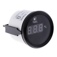 Digital Car 52mm fuel level gauge 0 190ohm for Motorcycle Automobile Auto accessories marine yacht 9V 32V red backlight