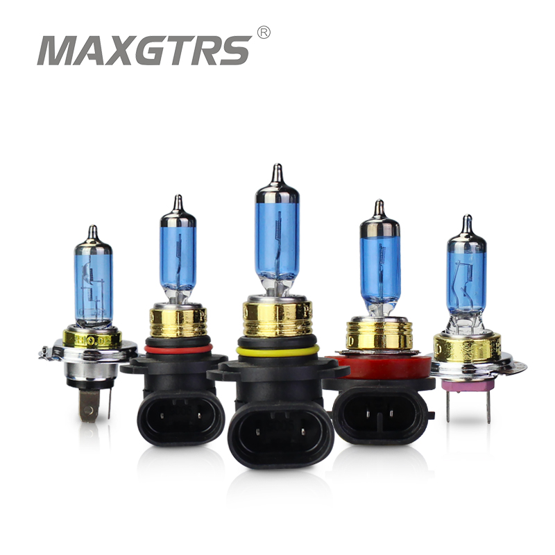 2x H7 H4 9005 9006 H8 H11 H1 HB3 HeadLight HOD Xtreme Lamp 12V 100W 5000K Dark Blue Glass Replacement Car Halogen Light Bulb