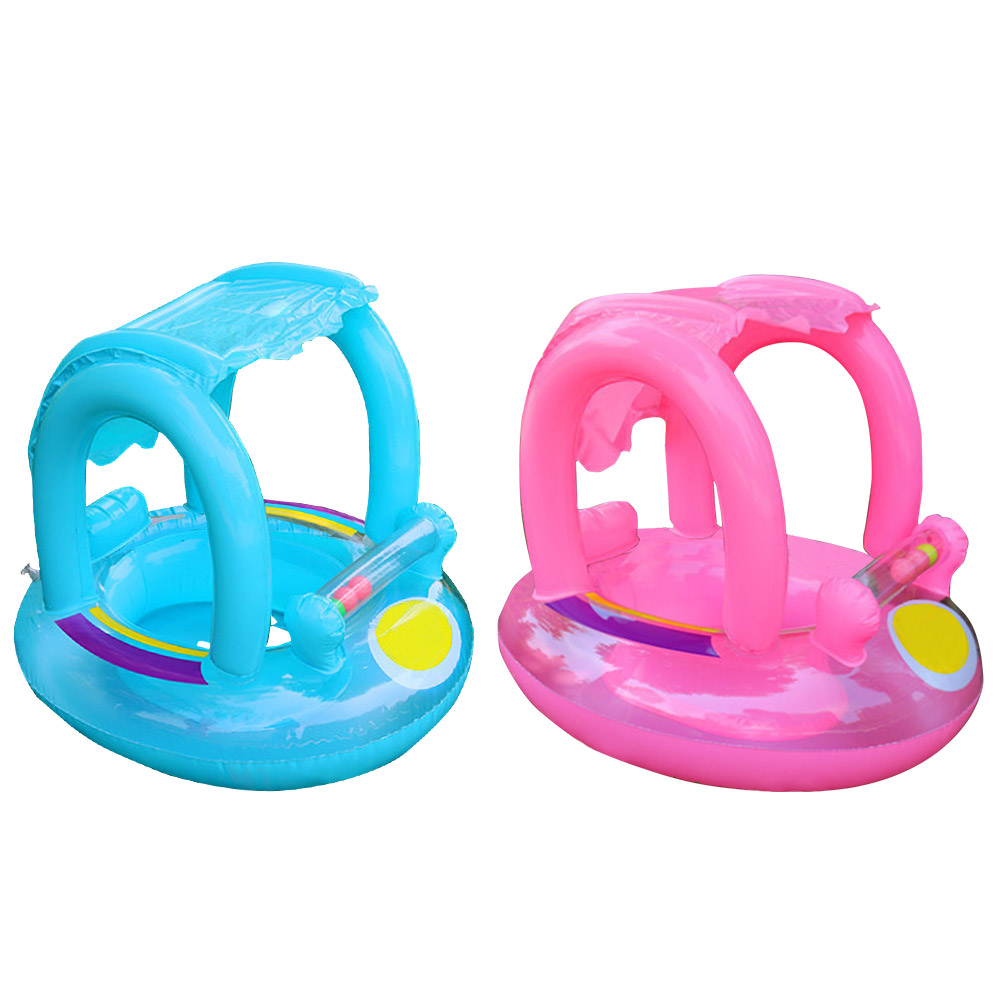 Hot Summer Baby Kids Swimming <font><b>Pool</b></font> Rings Inflatable Swim Float With Sunshade Seat Raft <font><b>Water</b></font> Fun <font><b>Pool</b></font> Toys image
