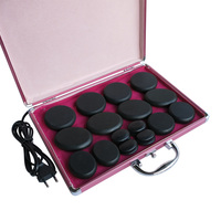 HOT! 20pcs/set body massage stone set hot stone with 220V heater box 3pieces/lot