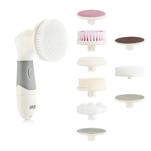 9 in1 Electric Facial Cleaner Deep Clean Rotating Cleansing Washing Brush Blackhead Removal Face Skin Care Massager Scrubber