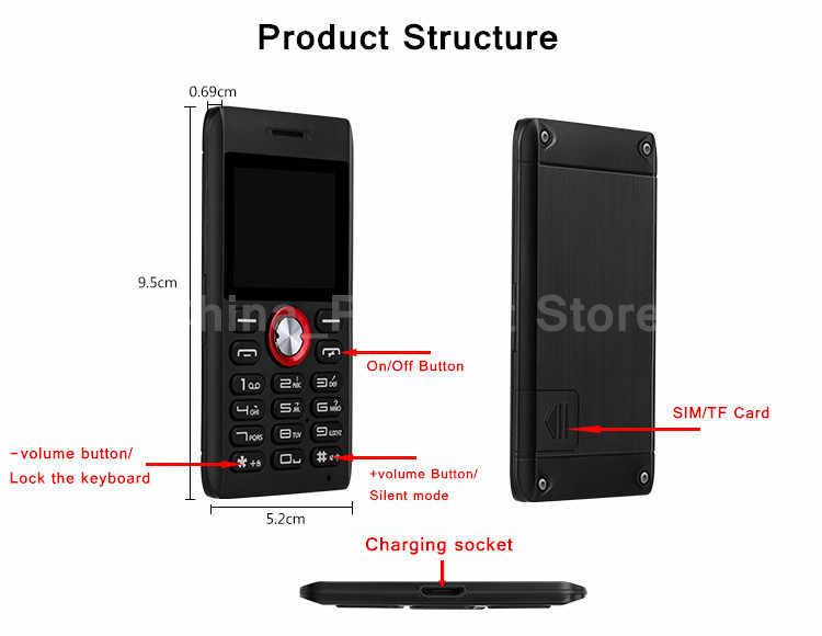5mm Super mince Original MELROSE M18 mini téléphone carte extérieure téléphone Mobile antichoc pas cher chine russe clavier téléphone portable