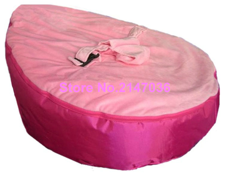 PINK seat New Canvas Baby infant Bean Bag Snuggle Bed Portable Seat No Filling