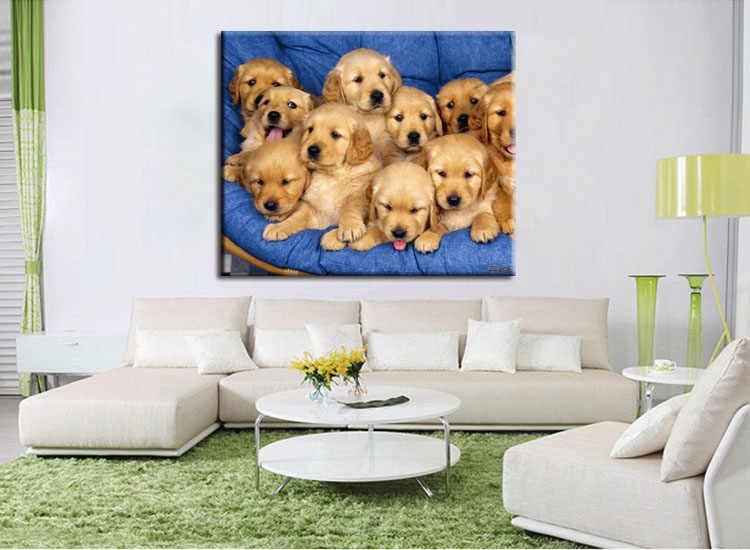 1 pieces / set labrador puppies dogs poster print wall sticker Wall Decor painting custom print