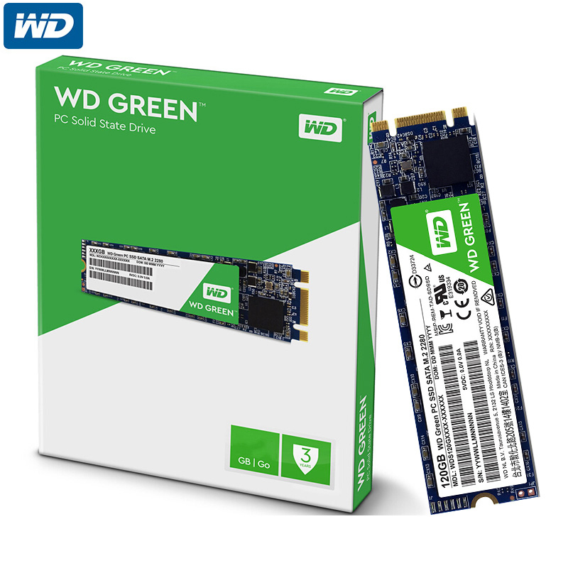 Western Digital WD Green PC SSD 120GB Internal Solid State Hard Drive Disk WDS120G1G0B M.2 2280 540MB/S 120GB for Laptop PC western digital wd green series интерфейс 120g m 2 твердотельный накопитель wds120g1g0b