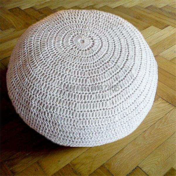 Hand Made Mittel Größe Baumwolle Crochet Boden Sitzkissen Häkeln