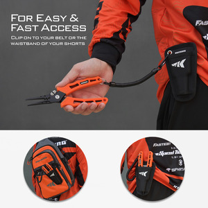 Image 4 - Kastking 420 ステンレス鋼釣プライヤータングステン超硬編組カッタークリンパーフックリムーバー海水にくい漁具