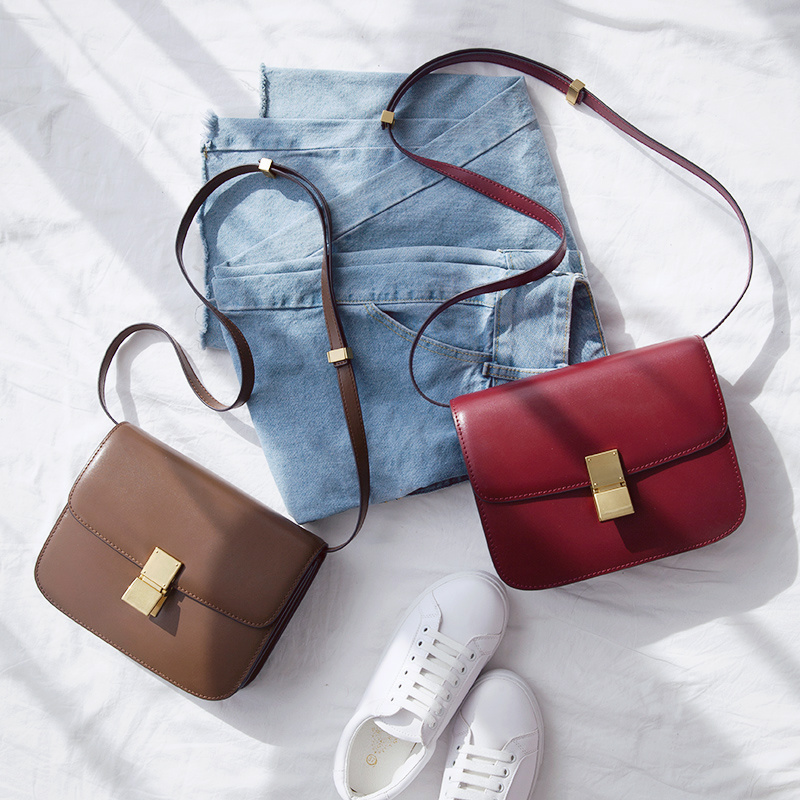 Bagaj ve Çantalar'ten Omuz Çantaları'de VENOF Moda bölünmüş deri Kadın omuzdan askili çanta basit kadın crossbody Çanta terse bayanlar postacı çantası marka çanta kadınlar için 2018'da  Grup 1