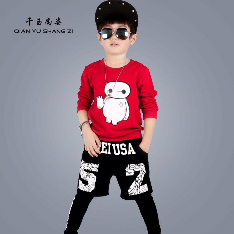 ФОТО 4-13Years Old Children Hoodies Sets Black  Fashion Streetwear Sweatshirts Boys and Girls Cool Sport Hoody Long Sleeves Clothing