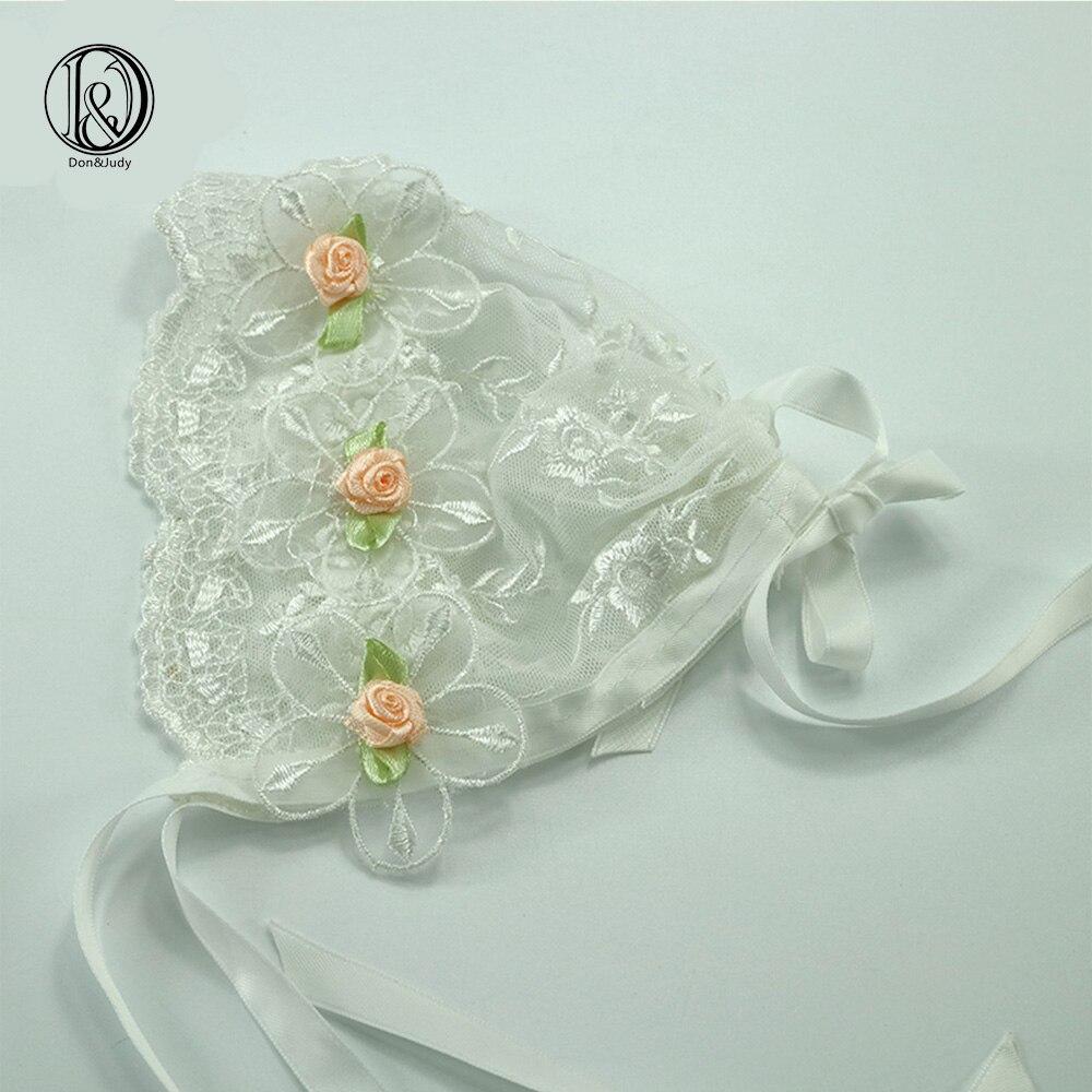 2ks / lot Handmade Baby Girl čipka kapuce s květinovým vintage stylu Baby čipka klobouk Baby fotografie rekvizity Baby sprchový dar