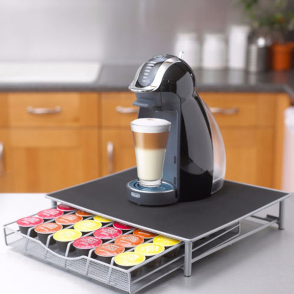 40 Pod Nespresso Coffee Machine Stand /& Capsule Storage Holder Drawer Dispenser