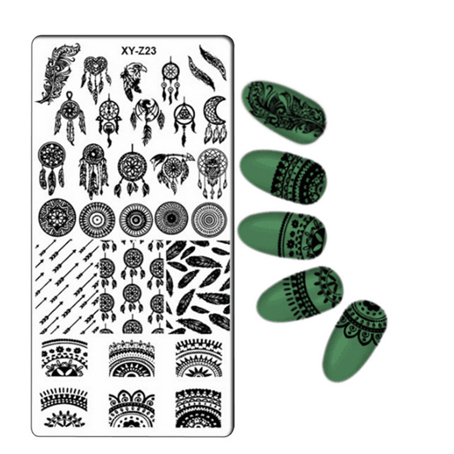 New Nail Art Template 32PCS HAICAR DIY Nail Latest 32Styles Art Stamp Template Image Plate Polish Stamping Decal Manicure Pretty born pretty 15ml colorful 6 bottles stamping polish manicure nail art printing polish for stamping plate diy nail decoration set