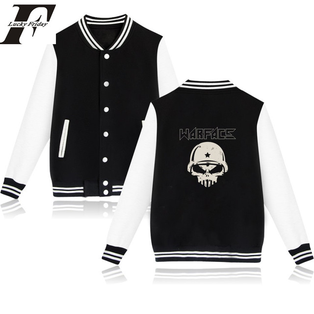 660f983a9d1f LUCKYFRIDAY WARFACE jacket for Men women jaqueta masculino 2017 warface  game casaco masculino casacos black coat plus size