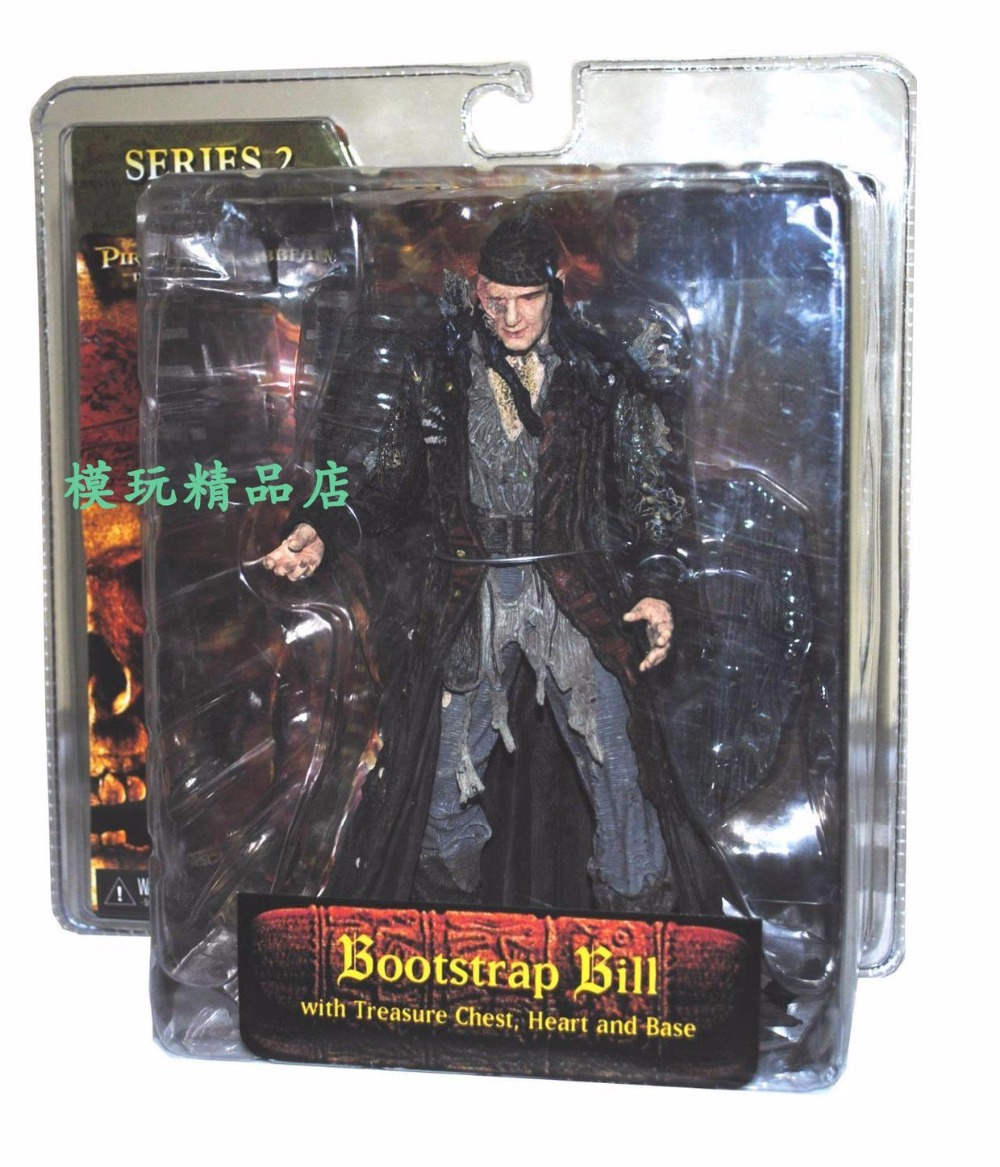 NECA Pirates of the Caribbean Dead Man's Chest Crew Bootstrap Bill 6-inch Doll Shoelace Bill William S165 1 6 pirates of the caribbean angelica headsculpt for diy 12inch doll parts