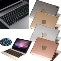 Seven Colors LED Backlight Wireless Bluetooth Keyboard Aluminum Body Stand Cover Case For IPad Pro 12