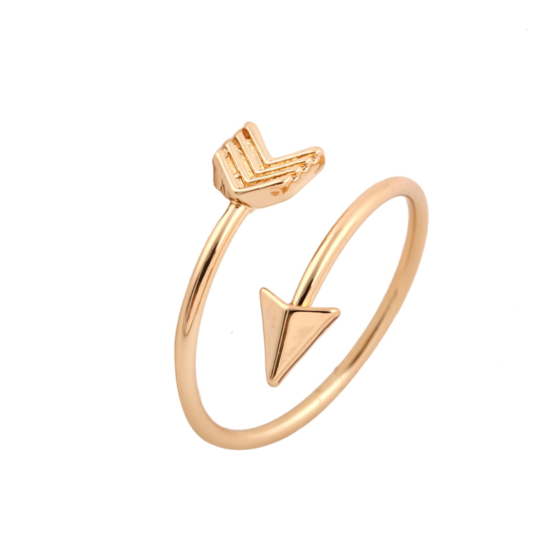 jisensp 2017 new fashion rings brass small arrow cute wedding rings for women gift in party r008 - Small Wedding Rings