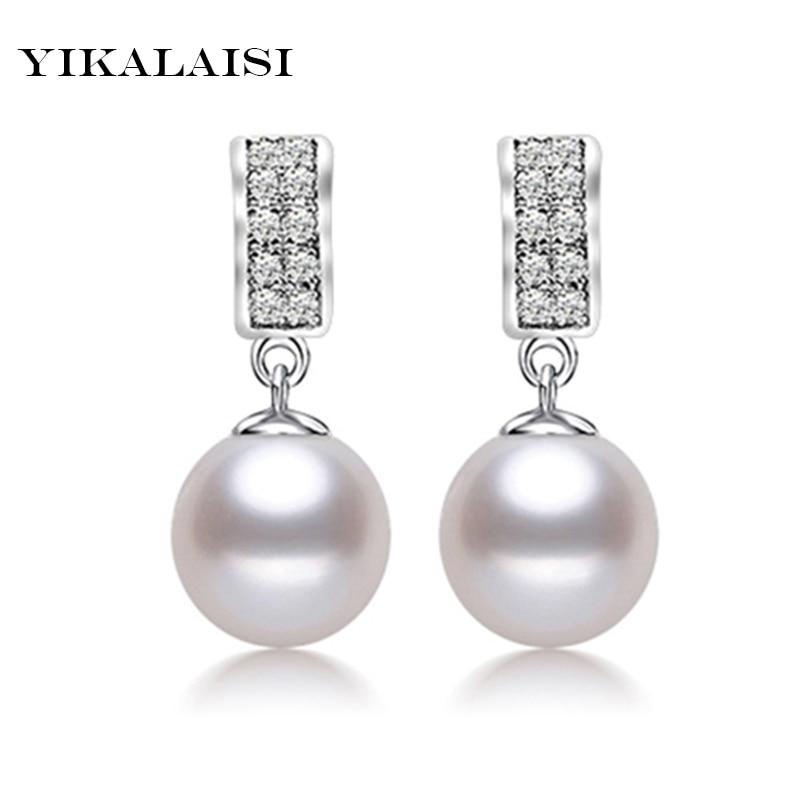 купить 2017 Pearl Jewelry,100% natural white Pearl earring, 925 Sterling Silver earrings,Birthday gift Women Accessories earrings по цене 1767.94 рублей