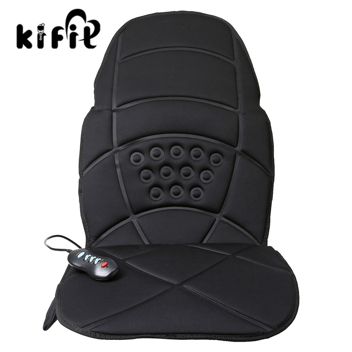KIFIT Confortable Heated Back Massage Chair Cushion Massager Car Seat Home Pad Pain Lumbar Neck Health Care Tool 240337 ergonomic chair quality pu wheel household office chair computer chair 3d thick cushion high breathable mesh