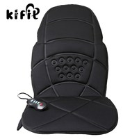KIFIT Confortable Heated Back Massage Chair Cushion Massager Car Seat Home Pad Pain Lumbar Neck Health