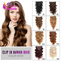 Remy Clip Human 14-24 Inch 100g Human Remy Hair Clip In Extensions Body Wave Clip In Human Hair Extension Clip On For Full Head
