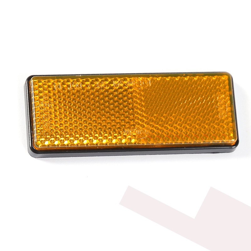 6 Pcs Aohewe Amber Rectangular Reflector Self Adhesive Ece Approval Reflect Strip For Trailer Truck Lorry Bus Rv Caravan Bike