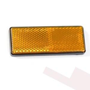 Image 3 - 2 STUKS amber reflector zelfklevende ECE Goedkeuring rechthoekige weerspiegelen strip voor vrachtwagen vrachtwagen bus RV caravan kamp fiets