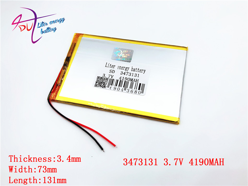 Suche Nach FlüGen Liter Energie Batterie 3,7 V 4190 Mah 3473131 Polymer Batterie 9 Zoll Tablet Batterie Inlands Der Eingebaute Rechareable Batterie Digital Batterien