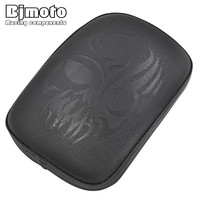 For Harley Custom Chopper Cruiser Motorbike Skull Pillion Passenger Pad Seat 8 Suction Cup