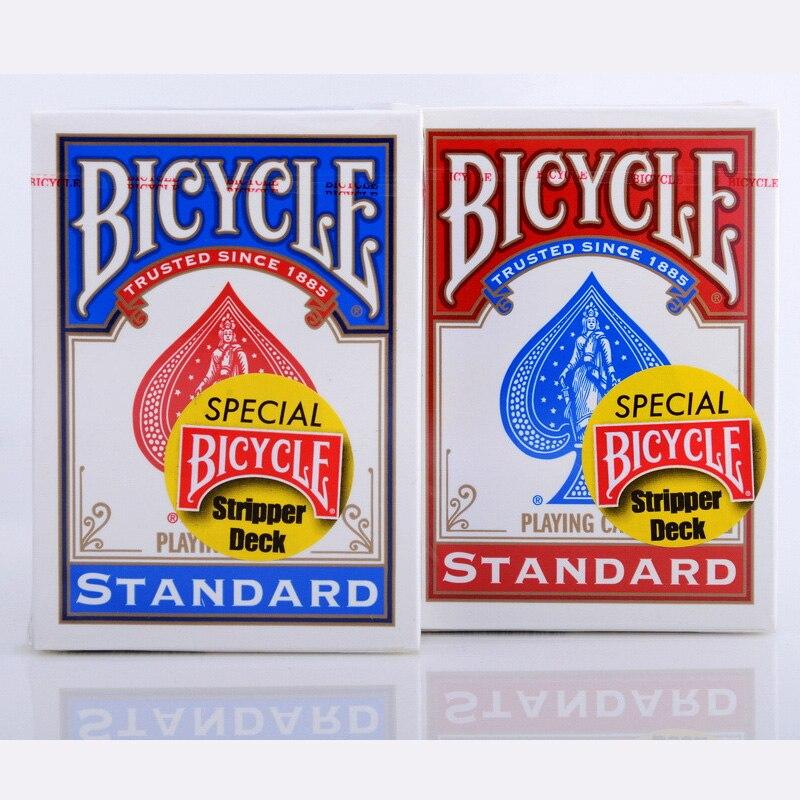 Blu/rosso speciale bicycle stripper deck carte da gioco standard categoria magia carte da poker per mago professionista