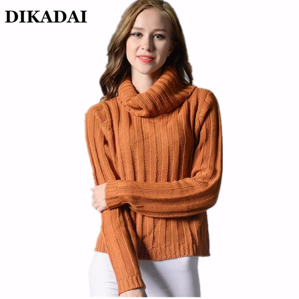 Fall 2017 Women long Sleeve turtleneck Sweater and Pullovers ...