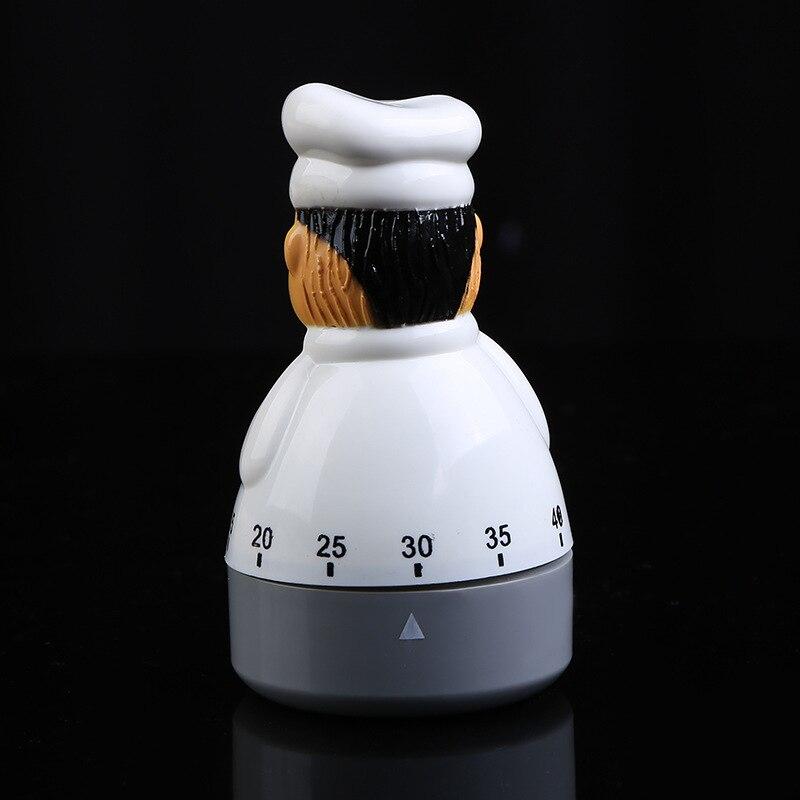 Cute Chef Design Cook Time Reminder 1 hour Set Mechanical Alarm