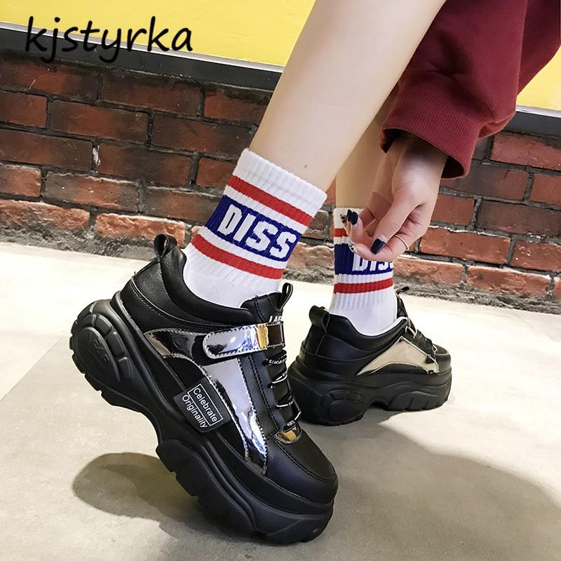 Mode Marche Designer Crochet Sneakers Tenis Nouveau Footwears Compensées De 2019 Feminino boucle Lady Femme Noir Classique Casual blanc Loisirs Kjstyrka 4xzIA