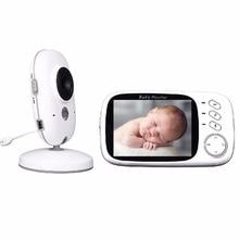 Radio Nanny video baby monitor 3.2 inch IR Night vision Temperature monitor 8 Lullabies video intercom Pan/Tilt radio babysitter