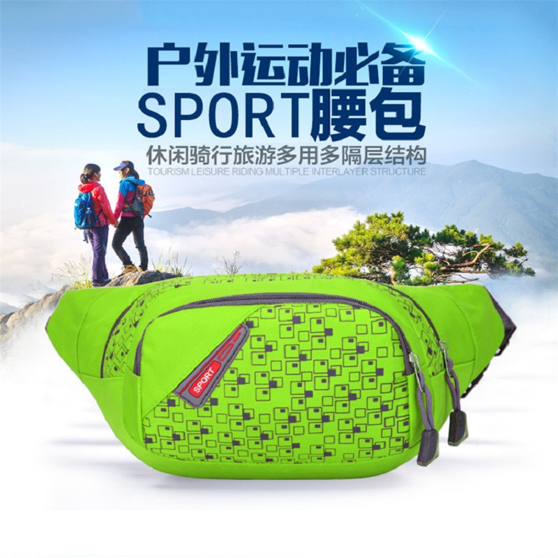 Waist Pack For Men Women Casual Functional Fanny Pack Bum Bag Hip Money Belt Travelling Mountaineering Mobile Phone Bag 10inch