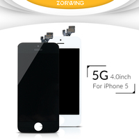 Hot Sale High Quality AAA Replacement Screen LCD For IPhone 5 Display With LCD Digitizer Touch