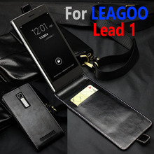 Classic Luxury Genuine Leather Flip Up and Down Leather case For LEAGOO Lead 1 Lead1 Phone housing Cover Case With Card Slot