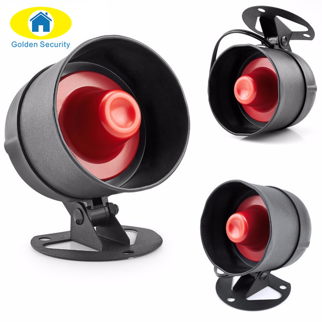 Golden Security Loudly Easy setting Home Security burglar Alarm System red light Siren Horn Anti-theft for garage and warehouse