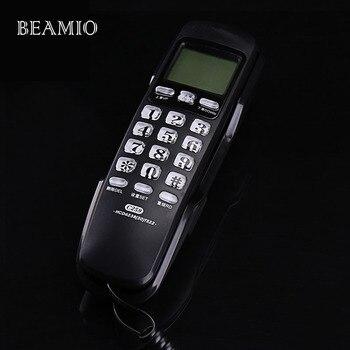 Мини-настенный фиксированный телефонный звонок ID Redial DEL Hotel ванная комната Домашний бизнес офисный телефон стационарный мини-телефон мален...