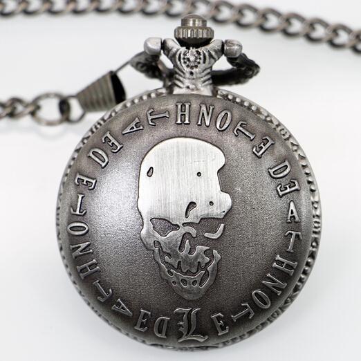 2017 PB199 New Fashion Death Note pocket watch men retro quartz machinery women steampunk relogio de bolso reloj mujer