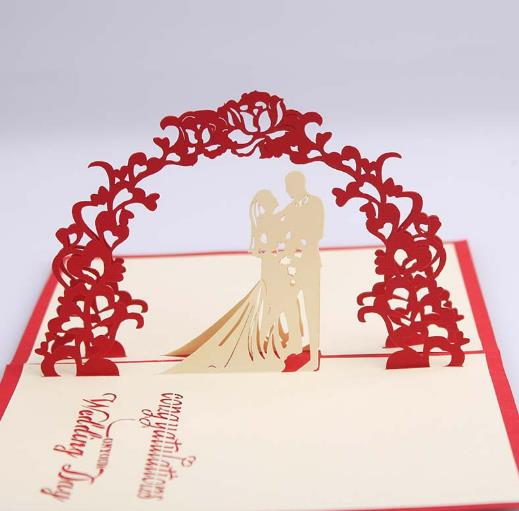 set of 10 decoration mariage decoupage greeting card 3 d pop up cards thank - Aliexpress Decoration Mariage